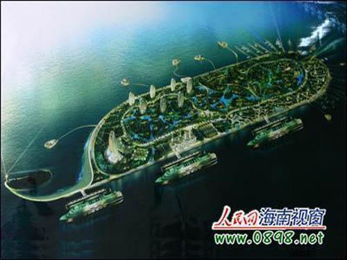"""岸""""旧城区改造规划""""点睛""""区段凤凰岛的标志性建筑群建筑设计"""